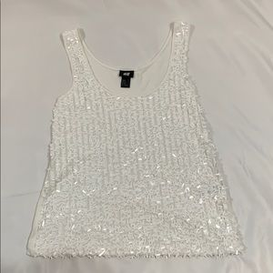 White Deco Tank Top Never Worn